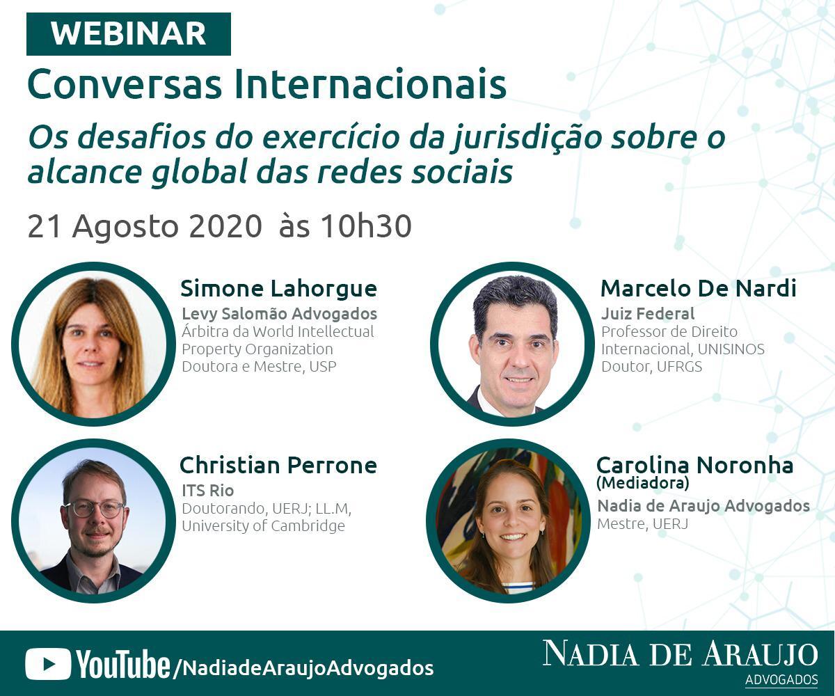 Webinar: «Los Desafíos sobre el ejercicio de la Jurisdicción sobre el alcance global de las redes sociales»