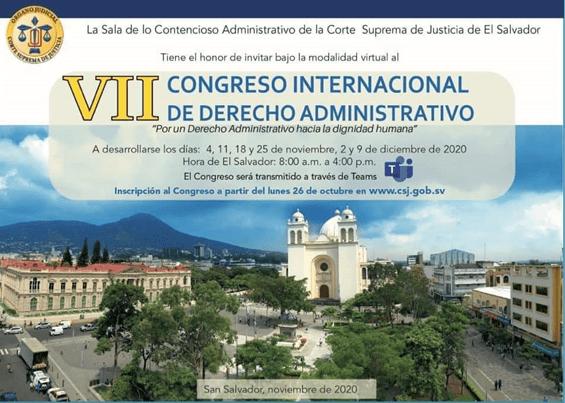 Programa del VII Congreso Internacional de Derecho Administrativo
