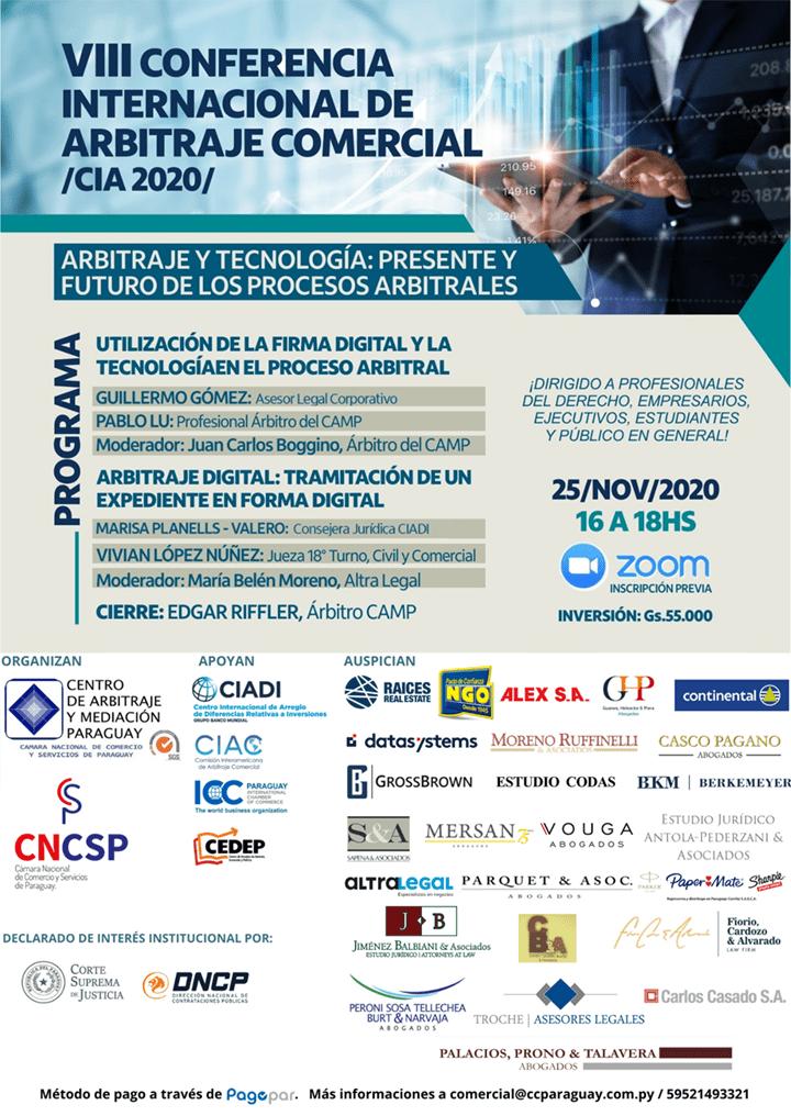 VIII Conferencia Internacional de Arbitraje Comercial – CIA 2020